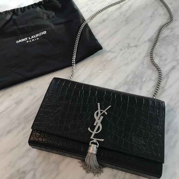 5f01c62a0fc Yves Saint Laurent Bags   Authentic Medium Croc Chain Bag   Poshmark